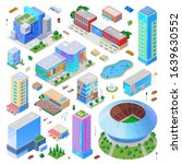 isometric city scene generator... | Shutterstock .eps vector #1639630552