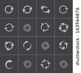 vector black refresh icons set | Shutterstock .eps vector #163964876