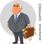 corrupt politician with... | Shutterstock .eps vector #1639705822
