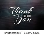 Thank You Greeting Card Design...
