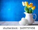 greeting card with flowers and...   Shutterstock . vector #1639757458