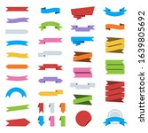 vector set of color ribbon... | Shutterstock .eps vector #1639805692