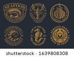 set of vintage illustrations... | Shutterstock .eps vector #1639808308