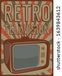 tv television signage poster... | Shutterstock .eps vector #1639843612