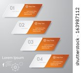 design clean number banners... | Shutterstock .eps vector #163987112