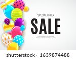 sale banner with floating... | Shutterstock .eps vector #1639874488