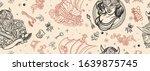vikings seamless pattern. old... | Shutterstock .eps vector #1639875745