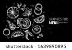 graphics for the menu. spices... | Shutterstock .eps vector #1639890895