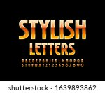 vector stylish letters and... | Shutterstock .eps vector #1639893862