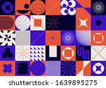 brutalism art inspired abstract ... | Shutterstock .eps vector #1639895275