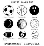 a vector set of different sport ...