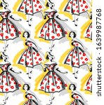 seamless pattern. fashion brush ...   Shutterstock .eps vector #1639987768