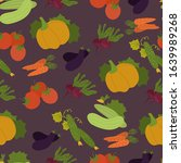 vector seamless pattern with... | Shutterstock .eps vector #1639989268