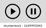 Play And Pause Vector Button...