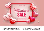happy valentines day sale... | Shutterstock .eps vector #1639998535