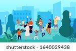 street musicians. musical fest  ... | Shutterstock .eps vector #1640029438