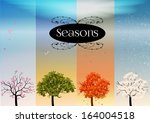 four seasons banners with...