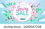 spring big sale poster with... | Shutterstock .eps vector #1640067238