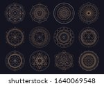 vector set of sacred geometric... | Shutterstock .eps vector #1640069548