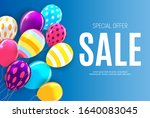 sale banner with floating... | Shutterstock .eps vector #1640083045