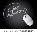 cyber monday mouse background....   Shutterstock .eps vector #164013785