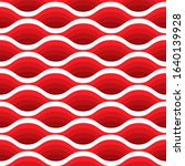 red wave seamless pattern.... | Shutterstock .eps vector #1640139928