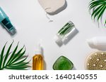 natural cosmetics products with ... | Shutterstock . vector #1640140555