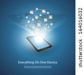 everything on one device  ... | Shutterstock .eps vector #164016032