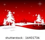vector christmas scene | Shutterstock .eps vector #16401736