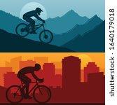 vector mountain and road urban...   Shutterstock .eps vector #1640179018