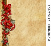 christmas garland with... | Shutterstock . vector #164017976