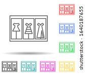 showcase with dresses multi...