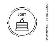 cake  lgbt icon. simple line ...