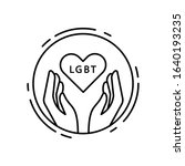hands  heart  lgbt icon. simple ...