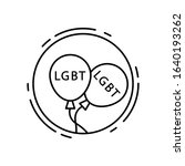 balloons  lgbt icon. simple...