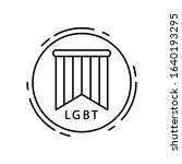 flag  lgbt icon. simple line ...