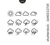 weather icon collection set....