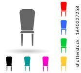 chair multi color style icon....