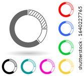 circle diagram multi color...