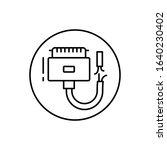 broken cable  connector icon....