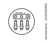 jack connector  three icon....