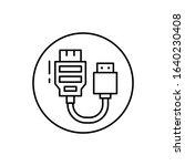 hdmi  connector icon. simple...