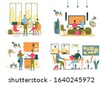 students in different life... | Shutterstock .eps vector #1640245972