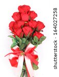 Stock photo red roses isolated on white background 164027258