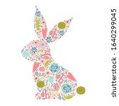 Floral Silhouette Of An Easter...
