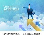 ambition concept. businessman...