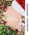 letter for santa with christmas ... | Shutterstock . vector #164034506
