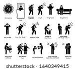 sign symptoms of coronavirus... | Shutterstock .eps vector #1640349415