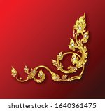 royal golden vintage ornament... | Shutterstock .eps vector #1640361475
