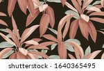 foliage seamless pattern  brown ... | Shutterstock .eps vector #1640365495